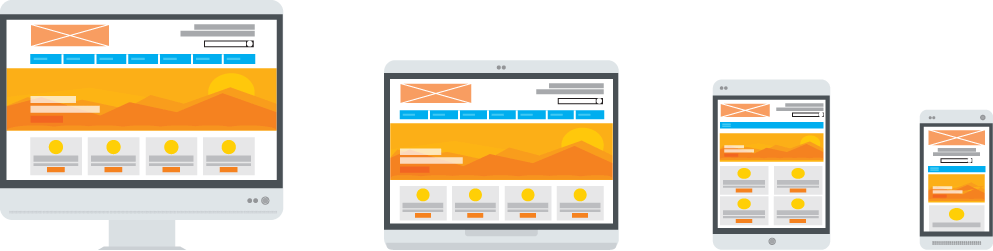 Vector illustration of responsive design
